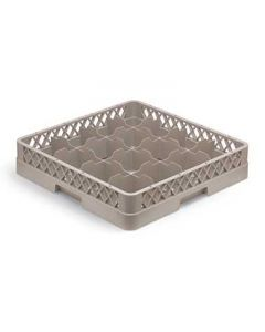 Vollrath TR4 Traex Full-Size 16-Compartment Beige Cup Rack