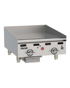 "Vulcan MSA24 24"" Heavy Duty Countertop Gas Griddles - Thermostatic Controls"