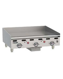 "Vulcan MSA36 36"" Heavy Duty Countertop Gas Griddles - Thermostatic Controls"